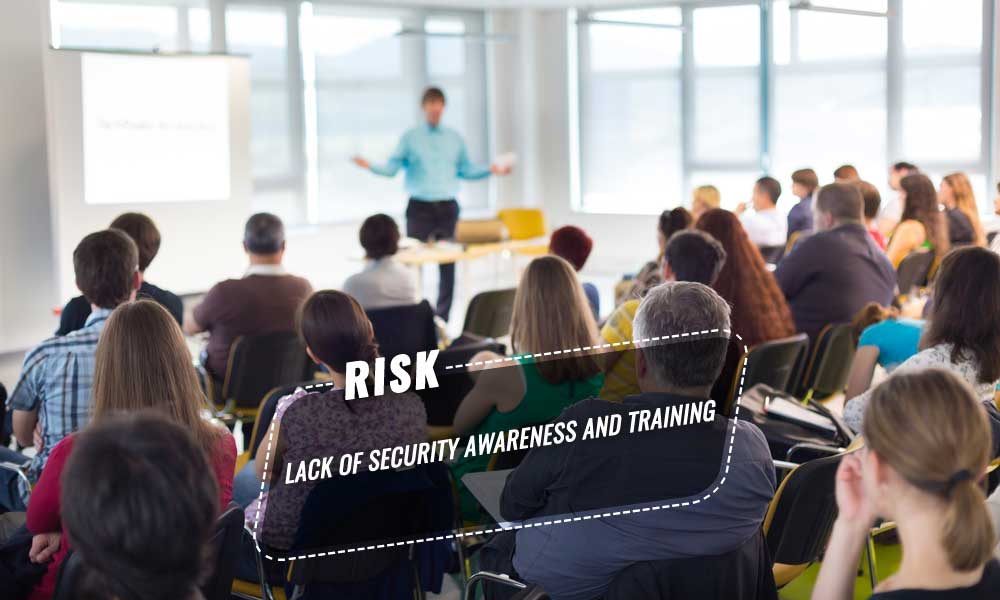 Lack of security awareness and training