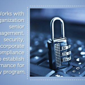 1. Works with organization senior management