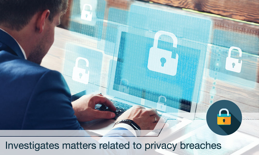 Investigates matters related to privacy breaches