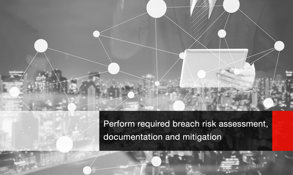 Performs required breach risk assessment