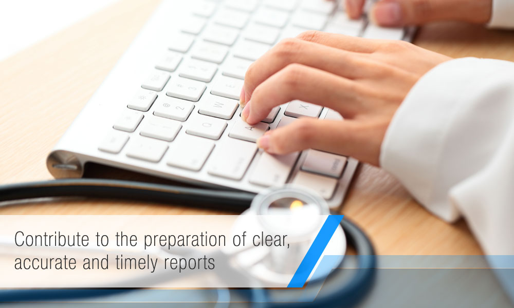 Contribute to the preparation of clear