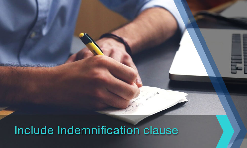 Include Indemnification clause
