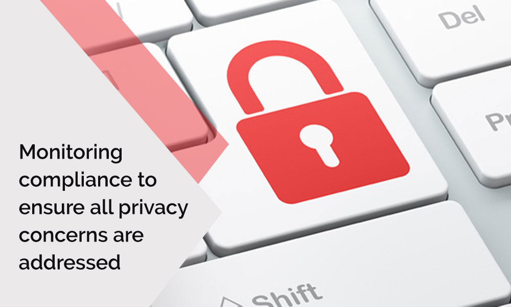 Monitoring compliance to ensure all privacy concerns are addressed