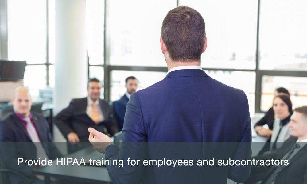 Provide HIPAA training