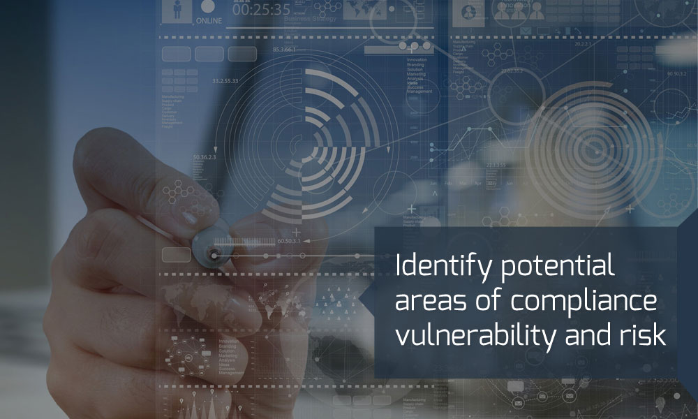 Identify potential areas of compliance vulnerability and risk