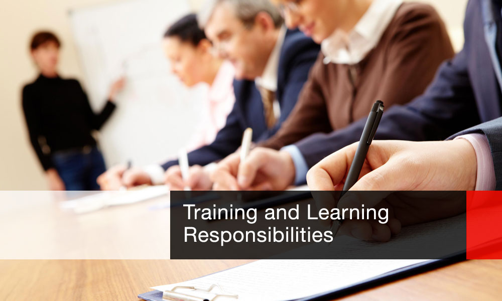Training and Learning Responsibilities