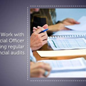 Work with Chief Financial Officer