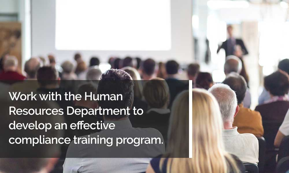 Work with the Human Resources