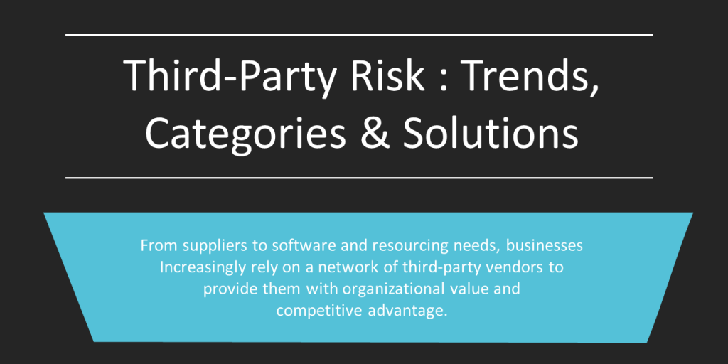 Third-Party Risk - Trends, Categories & Solutions