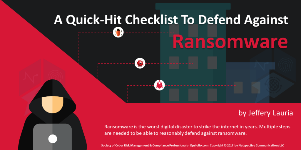 A Quick Hit Checklist To Defend Against Ransomware