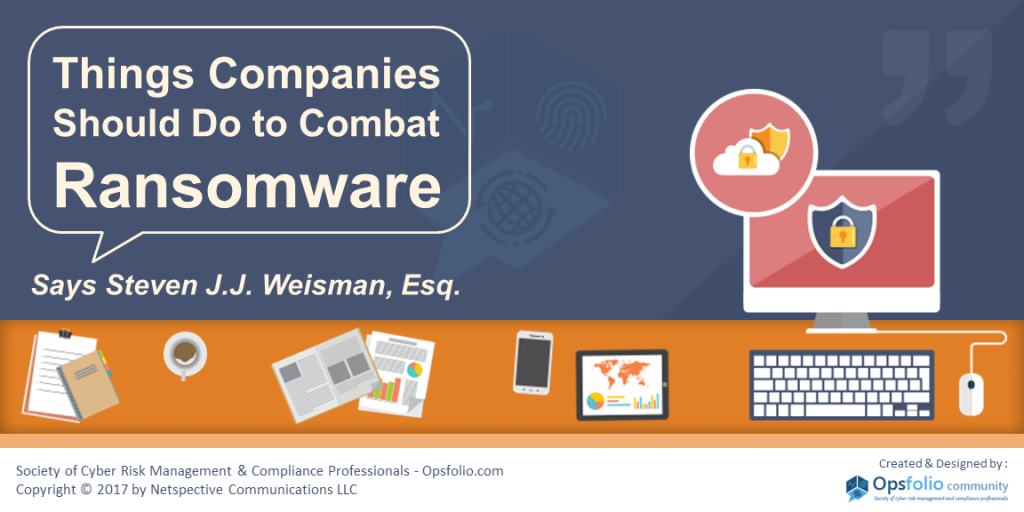 Things Companies Should Do to Combat Ransomware