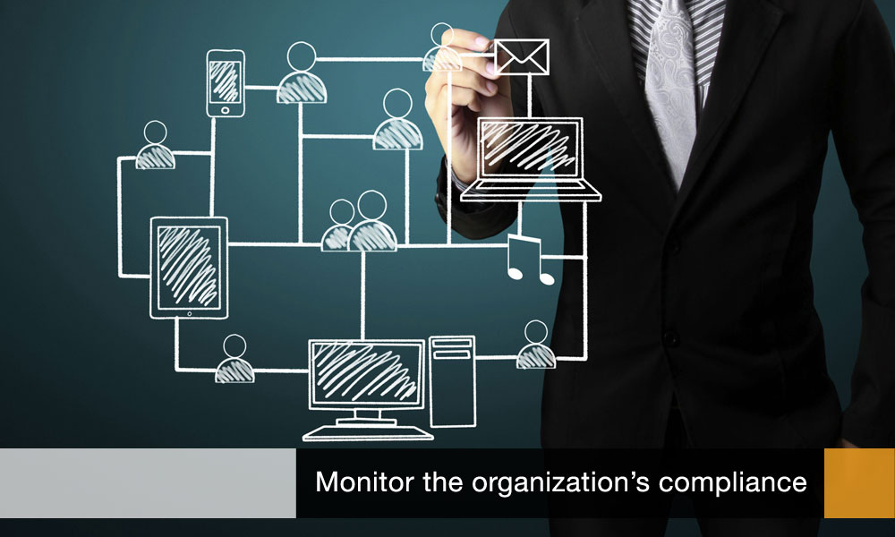 Monitor the organization's compliance